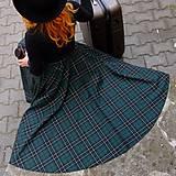 Sukne - MAIRA -  kruhová midi škótska sukňa - 12715942_