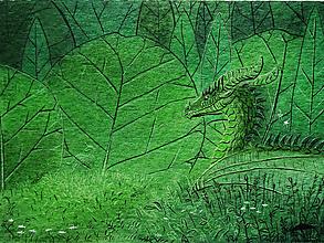 Kresby - Zelený Drak - 12715881_
