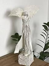 Socha - Anjelik perleťový - 12714408_
