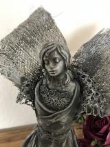 Socha - Anjel v odtieni metal - 12714458_