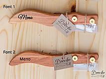 Pomôcky - Drevko - nožík na narezávanie chleba / slivka - 12714765_