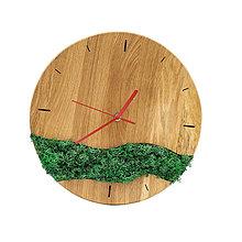 Hodiny - Machové hodiny (Červená) - 12715551_