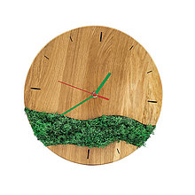 Hodiny - Machové hodiny (Zelená) - 12715552_