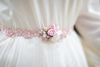 """Opasky - Jemný kvetinový opasok """"lásku máš na perách"""" - výpredaj z 20€ - 12718230_"""