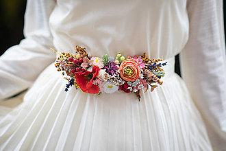 """Opasky - Kvetinový opasok """"dúha nad poľom makovým"""" - 12718342_"""