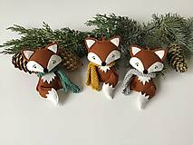 Dekorácie - Líška - ozdoba na vianočný stromček - 12715347_