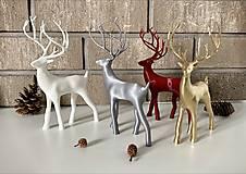 Dekorácie - Vianočný jelenček (Strieborná) - 12715683_