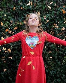 """Detské oblečenie - Detské šaty """"Majolikové srdce"""" - 12717988_"""