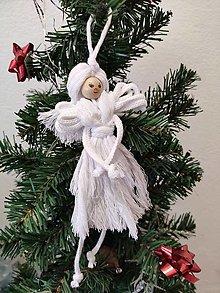 Bábiky - Anjel na stromček s tváričkou - 12718183_