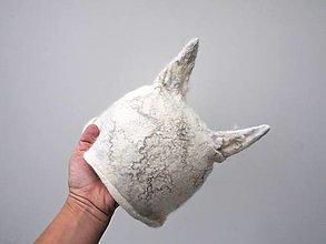 Čiapky - Vlnená čiapka polárna líška - 12723435_