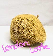 """Čiapky - """"London look"""" baretka. (karí) - 12721681_"""