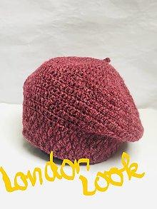 "Čiapky - ""London look"" baretka. (cyklámenová) - 12721687_"