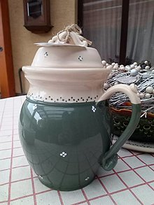 Nádoby - Džbán na čaj,varené vína - new zelený - 12719421_