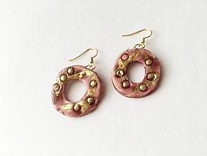 Náušnice - kruhy /keramika/ - 12723472_