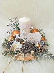 Dekorácie - Vianočná dekorácia s koníkom - 12721209_