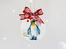 """Dekorácie - Vianočná ozdoba """"Tučniak"""" - 12718674_"""