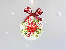 """Dekorácie - Vianočná ozdoba """"Vianočná ruža"""" - 12718678_"""
