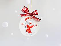 """Dekorácie - Vianočná ozdoba """"Snehuliak"""" - 12718682_"""