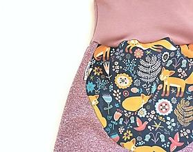 """Detské oblečenie - Softshellky """"líštičky na lúke"""" - 12720350_"""