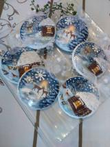 Dekorácie - Vianočné medailónky - Zimná krajinka - 12722949_