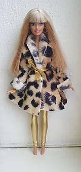 Hračky - Tigrovaný kabátik pre Barbie - 12722972_
