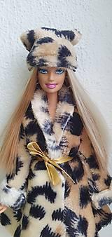 Hračky - Tigrovaná čiapka pre Barbie - 12722979_