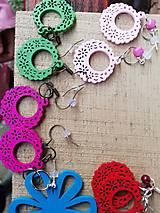 Náušnice - Náušničky ružové ozdôbky - 12719487_