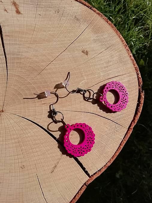 Náušničky ružové ozdôbky