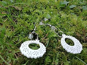 Náušnice - Náušničky ozdôbky biele - 12719432_