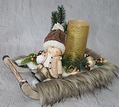 Dekorácie - Dekorácia 57 - Vianoce, zima - 12720472_