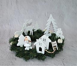 Dekorácie - Veniec vianočný 50 /zimný/ - 12720619_