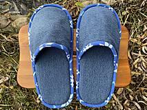 Obuv - Veľké riflové papuče - 12718824_