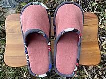 Obuv - Koralové papuče z poťahovky - 12718894_