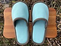 Obuv - Tyrkysové papuče - 12719805_