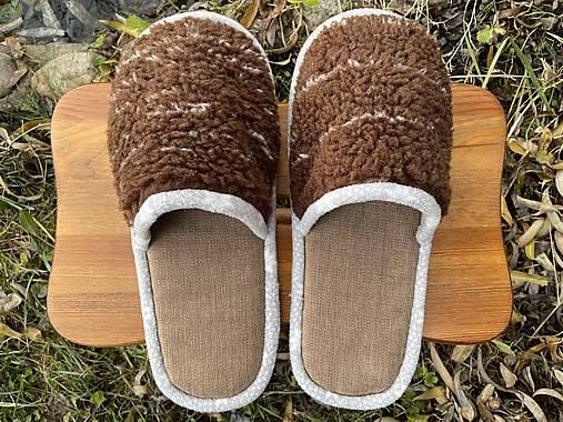 Huňaté papuče z poťahovky