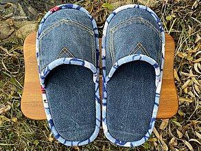 Obuv - Denim papuče s vreckom - 12719177_