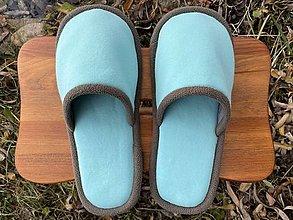 Ponožky, pančuchy, obuv - Tyrkysové papuče - 12719805_