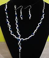 Sady šperkov - Jemný zeleno-modrý set - 12718956_