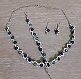 Sady šperkov - Jemný zeleno-modrý set - 12718960_