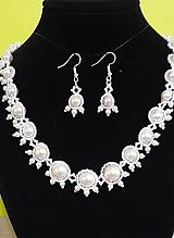 Sady šperkov - Svadobný perlový set - 12719199_