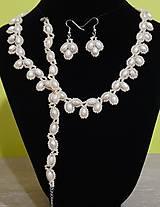 Sady šperkov - Béžový svadobný set - 12719275_