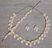 Sady šperkov - Béžový svadobný set - 12719277_