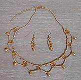 Sady šperkov - Zlatý set - 12719323_