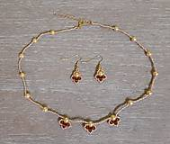 Sady šperkov - Zlatý set - 12719326_