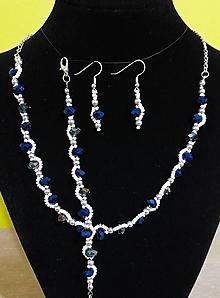 Sady šperkov - Jemný zeleno-modrý set - 12718958_