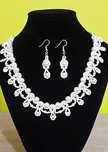 Sady šperkov - Svadobný perlový set - 12719188_