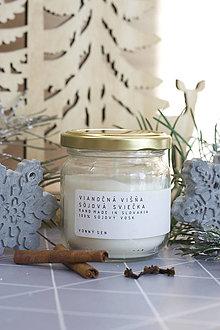 Svietidlá a sviečky - Vianočná VIŠŇA - sójová vonná sviečka - 12719968_
