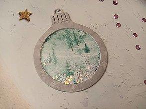 """Papiernictvo - Vianočná pohľadnica Guľa """"hrkálka"""" (Stromy Šedá) - 12723027_"""