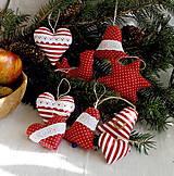 Dekorácie - Vianočné dekorácie - sady (Červeno - biele 17) - 12718808_