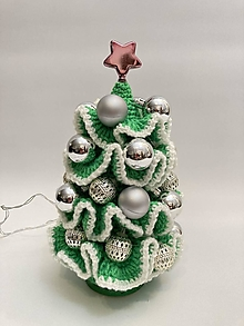 Dekorácie - Vianočný stromček Svietiaci s dekoráciami - 12719601_